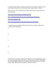 Personality test questions and links.docx