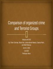Comparison of organized crime and Terrorist Groups Revised #2.pptx