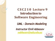 Lecture09_UML-DomainModeling