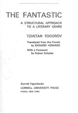 Todorov - Definition of the Fantastic V3