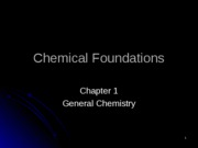1 - Chemical Foundations Lecture modified
