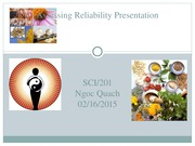Assessing Reliability and Credibility of CAM Resources Presentation