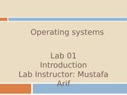 Lab _ 01 ~ Introduction, Linux Installation