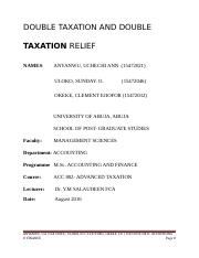 DOUBLE TAXATION AND DOUBLE TAXATION RELIEF (2) - Copy