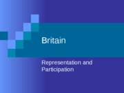 Britain-representation and participation