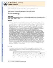 Epigenetics and its implications for behavioral neuroendocrinology