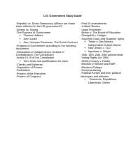 U.S. Government Study Guide.docx