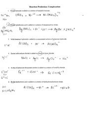 Reaction Prediction Complexation - Reaction Prediction Complexation ...