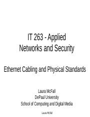 IT 263 - Week One - Cabling.ppt