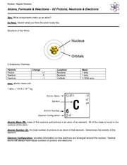 02 Notes - Protons, Neutrons, Electrons