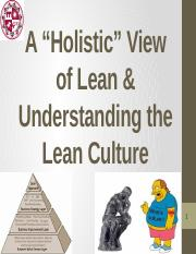 2. MSE 507 -- Holistic vew of Lean  Lean Culture.pptx