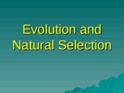 CH 13---Evolution and Natural Selection