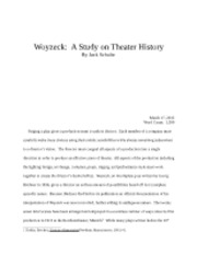 Woyzeck and Theater History