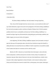 Evaluation Essay-Final Draft
