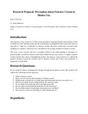 Research proposal 105