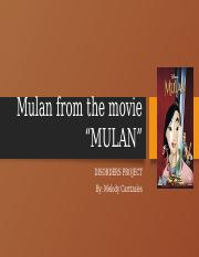 Disorders Project- Mulan.pptx