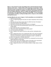 Learning Objectives for exam 3_2014_Chapter 9-1