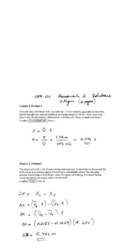 Solutions to Homework 02