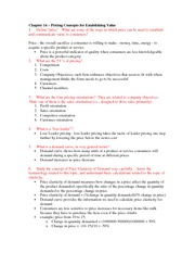 Marketing chapter 14 final notes
