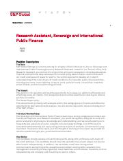 S&P Global - Research Assistant, Sovereign and International Public Finance Job in Toronto,.pdf