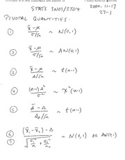STATS 3N03 One Sided Hypothesis Test Notes