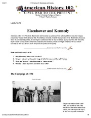 H102 Lecture 25_ Eisenhower and Kennedy