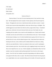 American History X Rough Draft