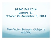 HP340 Lecture 11 - Two-factor ANOVA