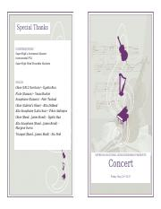 Music event program