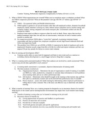 MGT 356 Exam 2 Spr 2011 Study Guide