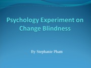 Psychology Experiment on Change Blindness