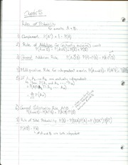 Rules of Probability Notes