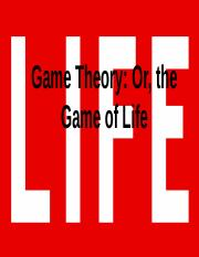 Game Theory and the Zombie Apocalypse