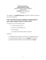 Assignment 1 Fall 2014-15(2)