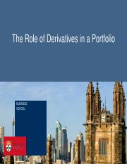Role of Derivatives
