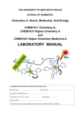 CHEM1011 Lab manual