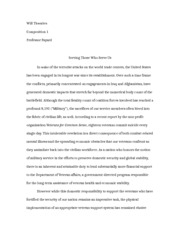 Composition I Sample Essay