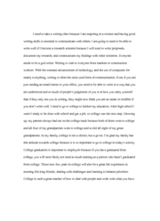 reflection paper-why is college important