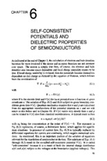 chapter 6 SELF-CONSISTENT POTENTIALS AND DIELECTRIC PROPERTIES OF SEMICONDUCTORS
