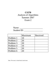 CS70_Exam 2- Summer 2007 solution