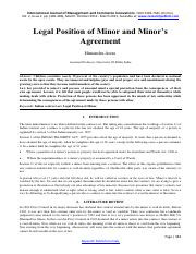 Legal Position of Minor and Minors Agreement-1135.pdf