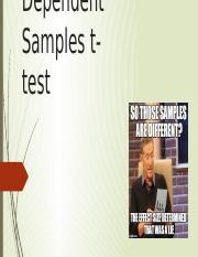 Dependent Samples t-test Student.pptx