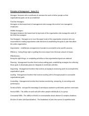 Principles of Management - Notes.docx