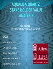 STAKEHOLDERS VALUE ANALYSIS- GROUP 7.pptx