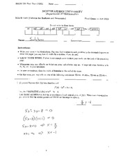 Calculus Final Exam Fall 2012 Answers