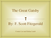 The Great Gatsby Class Power Point