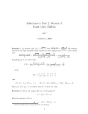Solutions Test 2A