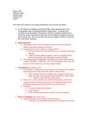 History 121 Midterm Study Guide #1.docx