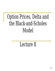 Lecture8 -Option Pricing