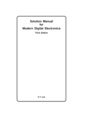 Modern Digital Electronics- R P Jain-  Solution Manual